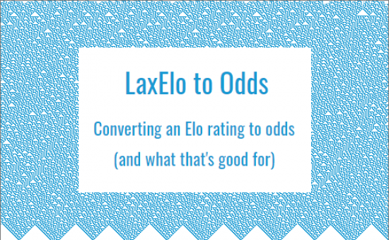 Converting Elo Ratings to Odds