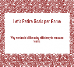 Lacrosse Analytics - Efficiency